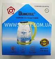 Электрический чайник - Domotec MS 8112 2200W Зеленый (поворот на 360 градусов), фото 1