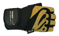 Перчатки для силовых упражнений с двойным швом. Желтый