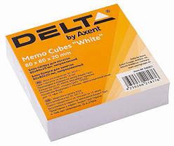 Бумага для заметок Delta 80*80*20 мм непроклеенный