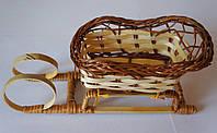 Плетеная корзинка-сани