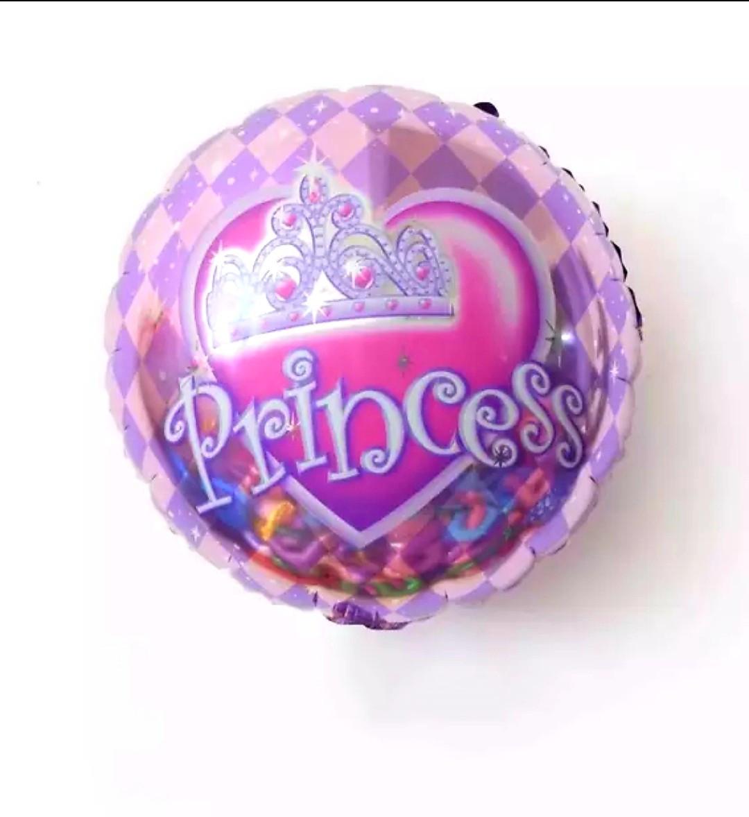 """Фольгований круглий повітряна куля """"Принцеса"""" діаметр """"18"""", 45 см"""