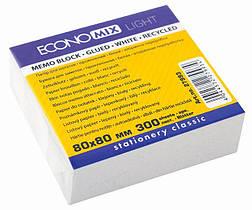 Бумага для заметок Economix 80*80 мм,300 листов проклеенный