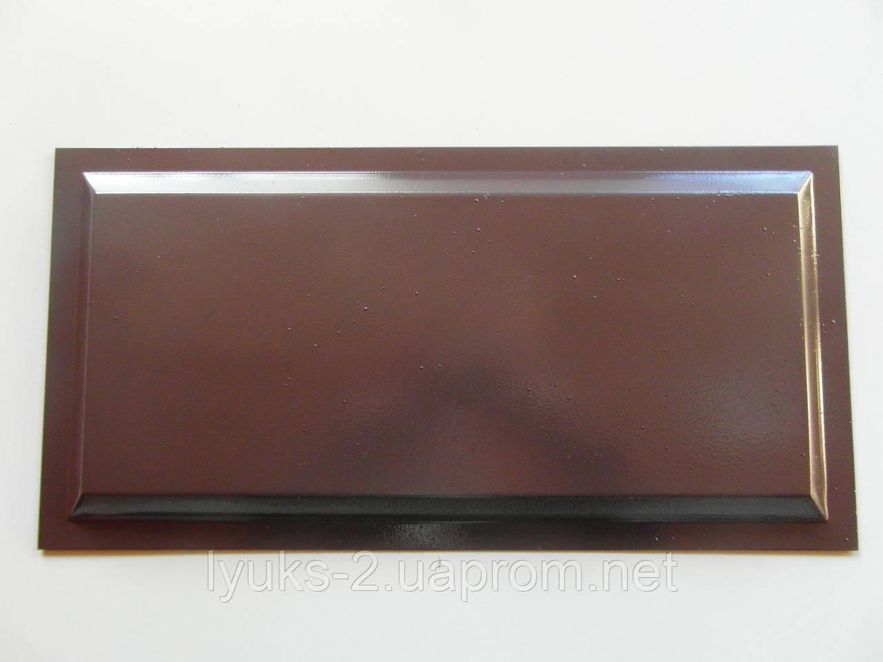 Филенка металлическая для ворот Гладкая 500*250