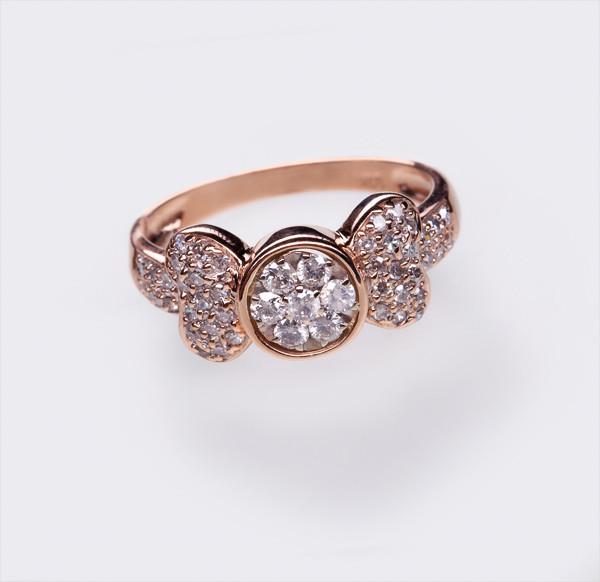 Золотое кольцо с бриллиантами С21Л2№27