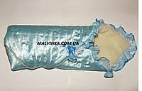 Конверт зимний на выписку для новорожденного на меху арт 9355,цвета.