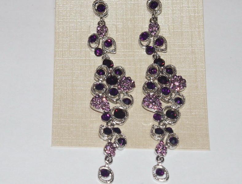 Серьги Маргарита. Фиолетовые камни