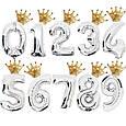 .Фольгований повітряна куля міні фігура корона золота 30 х 30 див., фото 3