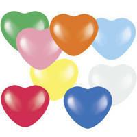 Воздушные шарики Gemar Сердце пастель Ассорти, 6' (15 см), 100 шт