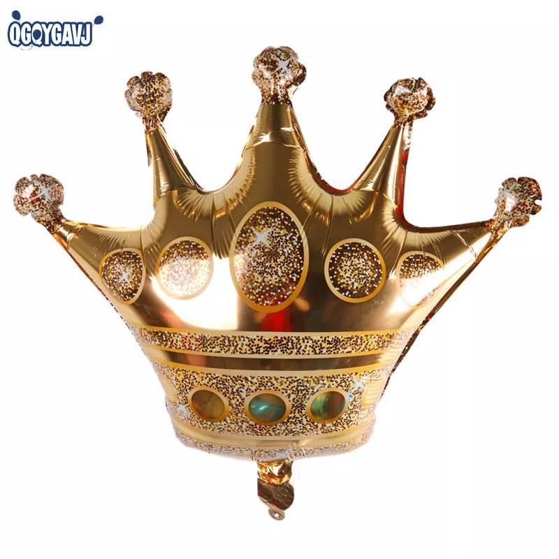 .Фольгований повітряна куля міні фігура корона золота 30 х 30 див.