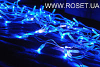 "Фасадная LED гирлянда ""бахрома"" 180 лампочек, 3*0,5м , синего цвета"