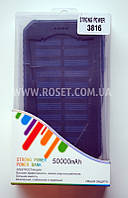 Портативная зарядная батарея на солнечной панели Power Bank Strong Power 3816 + LED 50000 mAh