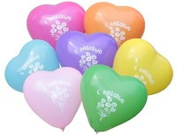 Воздушные шарики Gemar пастель ассорти рис. С ЛЮБОВЬЮ, 100 шт