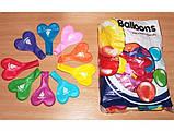Воздушные шарики Gemar пастель ассорти рис. С ЛЮБОВЬЮ, 100 шт, фото 2