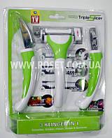 Набор ножей для чистки (и фигурной нарезки) овощей и фруктов - Triple Slicer 3 в 1