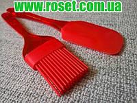 Силиконовый набор для кухни Spatula And Brush (силиконовая лопатка и кисточка), фото 1