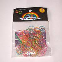 Набор резиночек для плетения Rainbow Loom 200шт. (разноцветный прозрачно-полосатый)