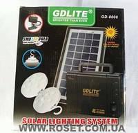 Набор ламп с солнечной батареей GDLITE GD-8006, фото 1