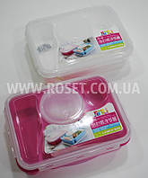 Ланч-бокс с секциями и супной тарелкой - Four+One Frame Lunch Box, фото 1