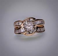 Золотое кольцо с бриллиантами С20Л1№14
