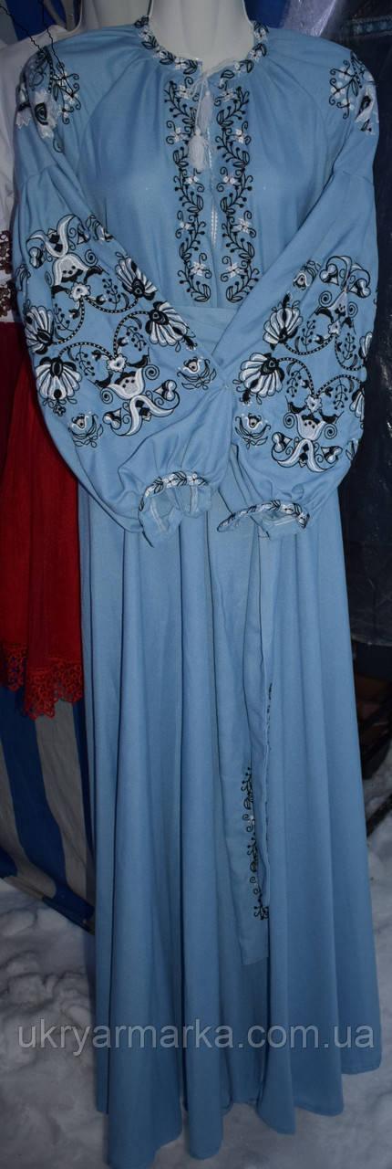 """Плаття вишите бохо  """"Голуба мрія"""""""