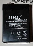 Аккумуляторная батарея UKC WST-4.0 (6 V-4.0 AH), фото 1
