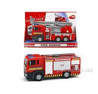 Пожарная машина Man с подвижными частями Dickie 3712008  с боковой панелью