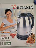 Электрический чайник, электрочайник нержавейка Britania BNK-2200 , 2,2 кВт