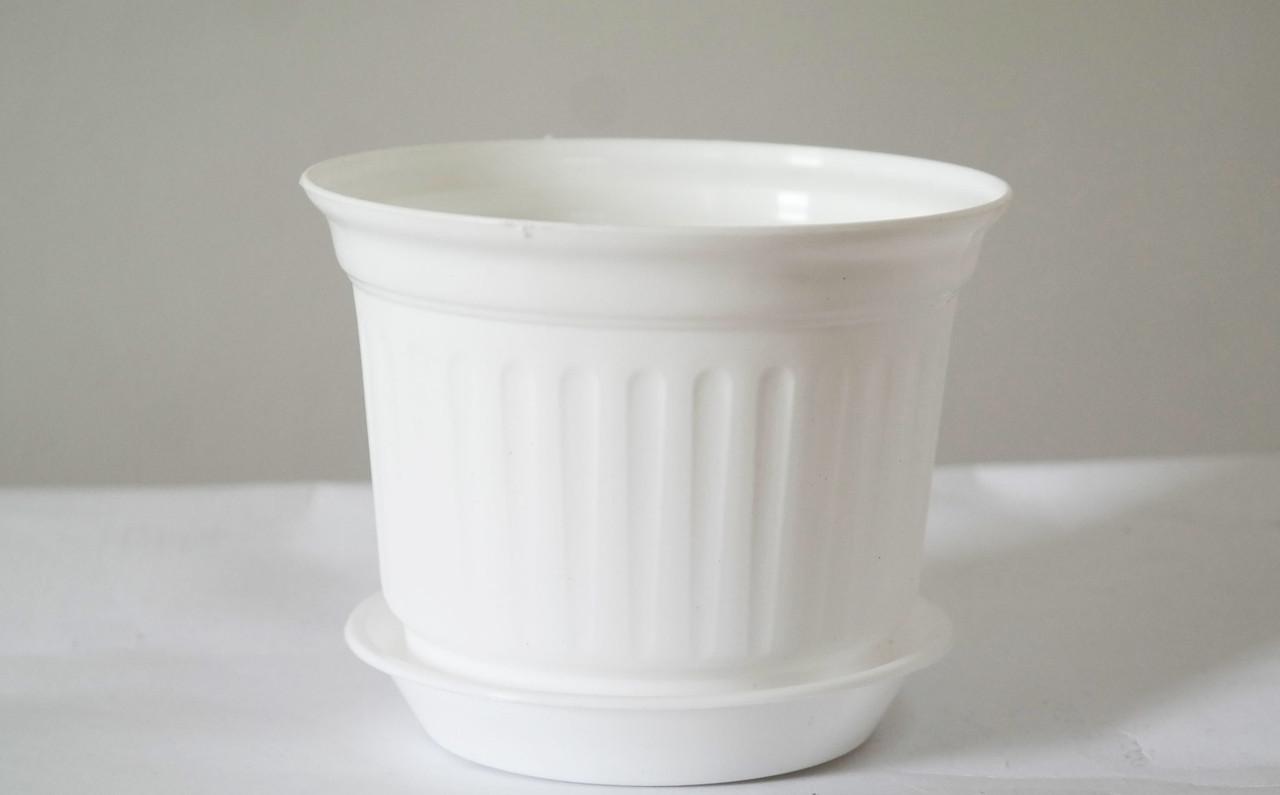 Цветочный Горшок Равенна Белый 17 см 1,7 литра без подставки