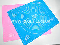Силиконовый коврик для раскатки и выпечки теста 38 х 46 см