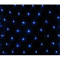Новогодняя светодиодная прозрачная LED гирлянда сетка 1,5х1,5 м СИНЯЯ, Мульти