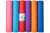 Йогамат, коврик для фитнеса, GreenCamp, 4мм, PVC, чехол
