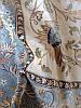Тонкие ковры с голубым кантом из Бельгии