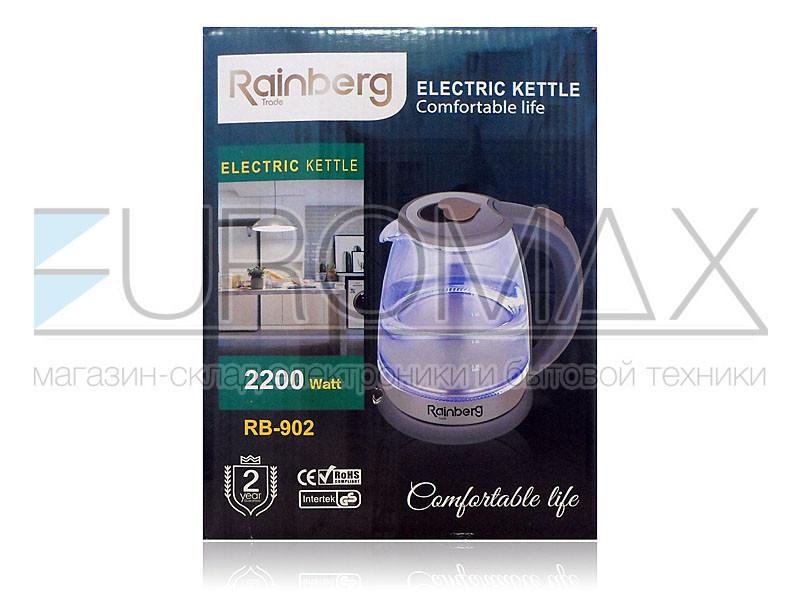 Электрочайник стеклянный 1,8л 2200Вт Rainberg RB-902