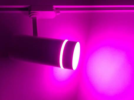 Светодиодный трековый фитосветильник SL-106F 10W (full spectrum led) белый Код.59445, фото 2