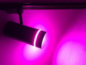 Светодиодный трековый фитосветильник SL-106F 10W (full spectrum led) черный Код.59446