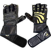 Кожаные перчатки для фитнеса GRIP POWER PADS GPP-100Y, фото 3