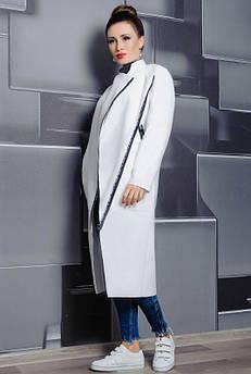 Біле стильне пальто великого розміру Елісон