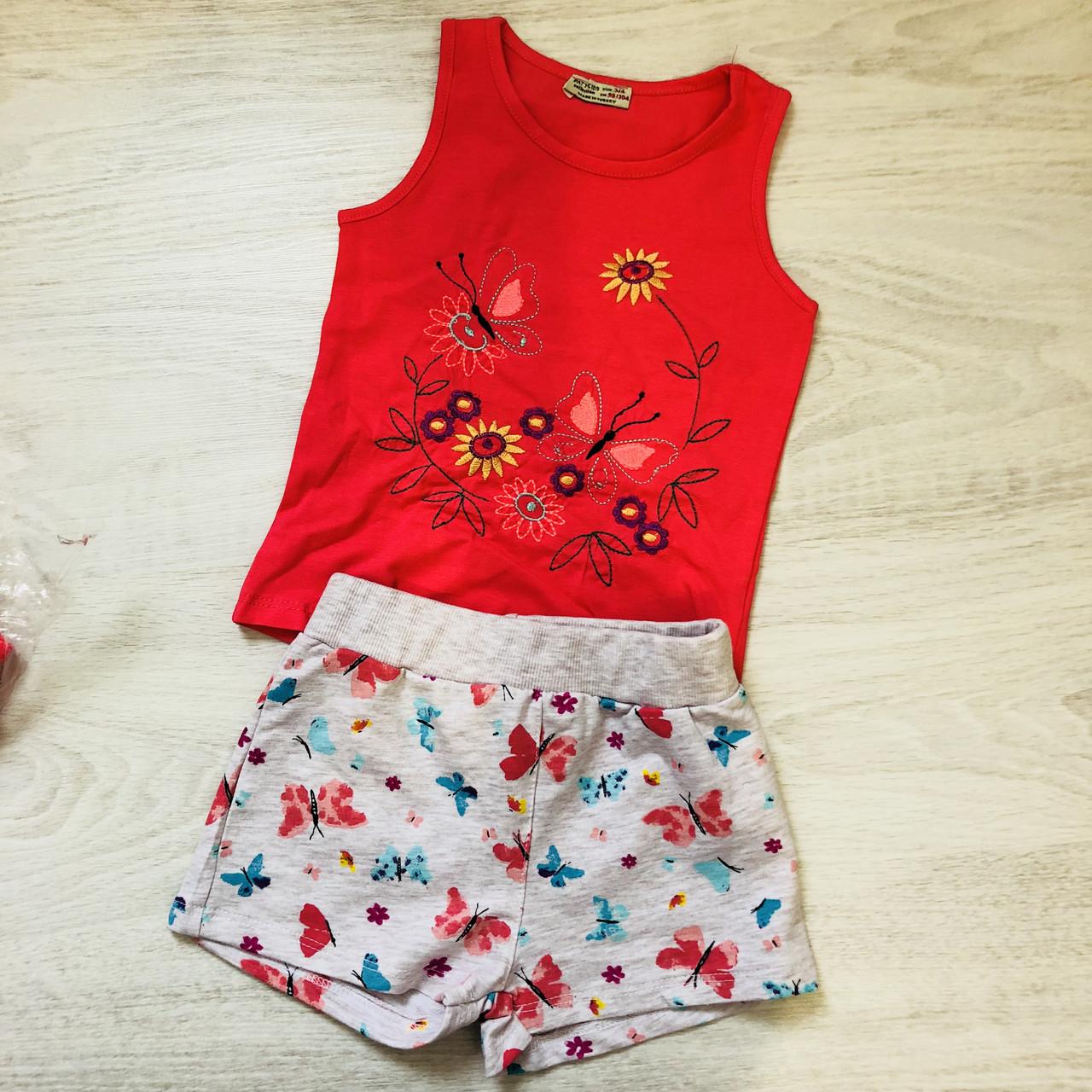 Костюм майка и шорты(3-7 лет)