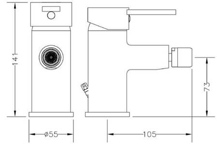 Смеситель для биде GENEBRE Tau2 (65145294566), фото 2