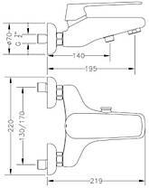 Смеситель для ванны GENEBRE Kode (62100084567), фото 3