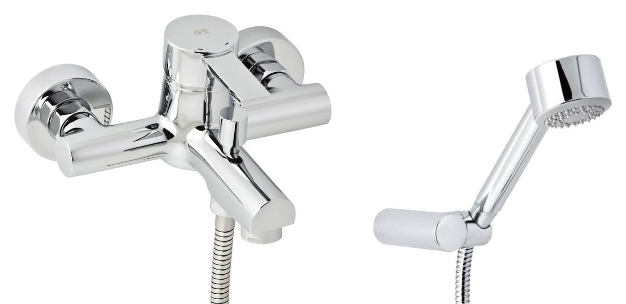 Смеситель для ванны GENEBRE Tau2 с душевым гарнитуром (65100294566)