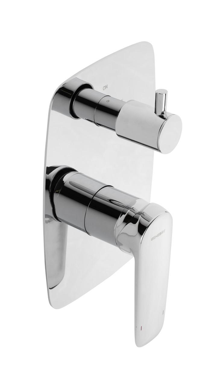 Смеситель для ванны и душа GENEBRE Kode, встраеваемый, на 2 зоны (62117314566)