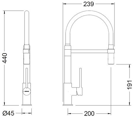 Смеситель для кухонной раковины GENEBRE TAU (65219184566), фото 2