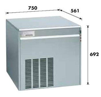 Льдогенератор 500 кг/сутки KF-600A Migel 2090021