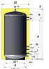 Бак аккумулятор 1500 л с изоляцией. ЕАM-00-1500