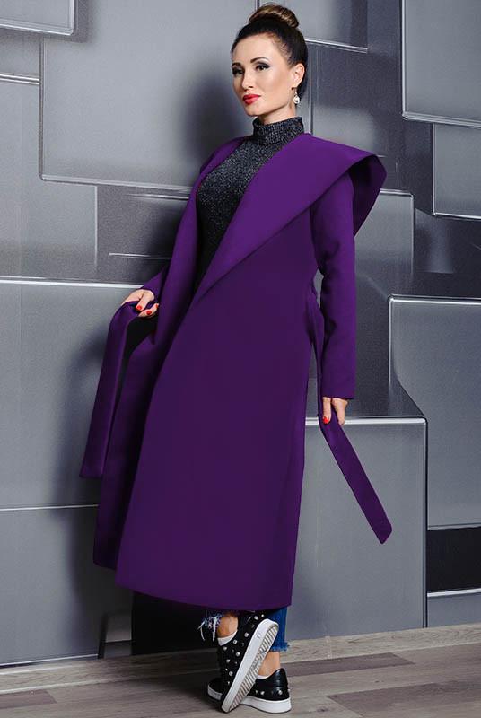 Батальные пальто Мариз ультрафиолет