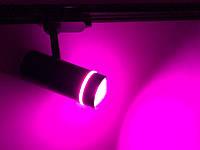 Светодиодный трековый фитосветильник SL-106F 20W (full spectrum led) черный Код.59448