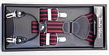 Подтяжки мужские Paolo Udini красно-черные, фото 2