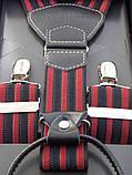 Подтяжки мужские Paolo Udini красно-черные, фото 3