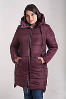 Зимняя куртка больших размеров 50-64 бордо